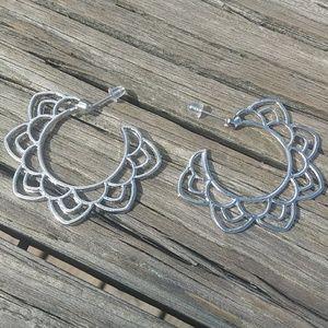 Jewelry - Mandala Lotus Earring Hoops